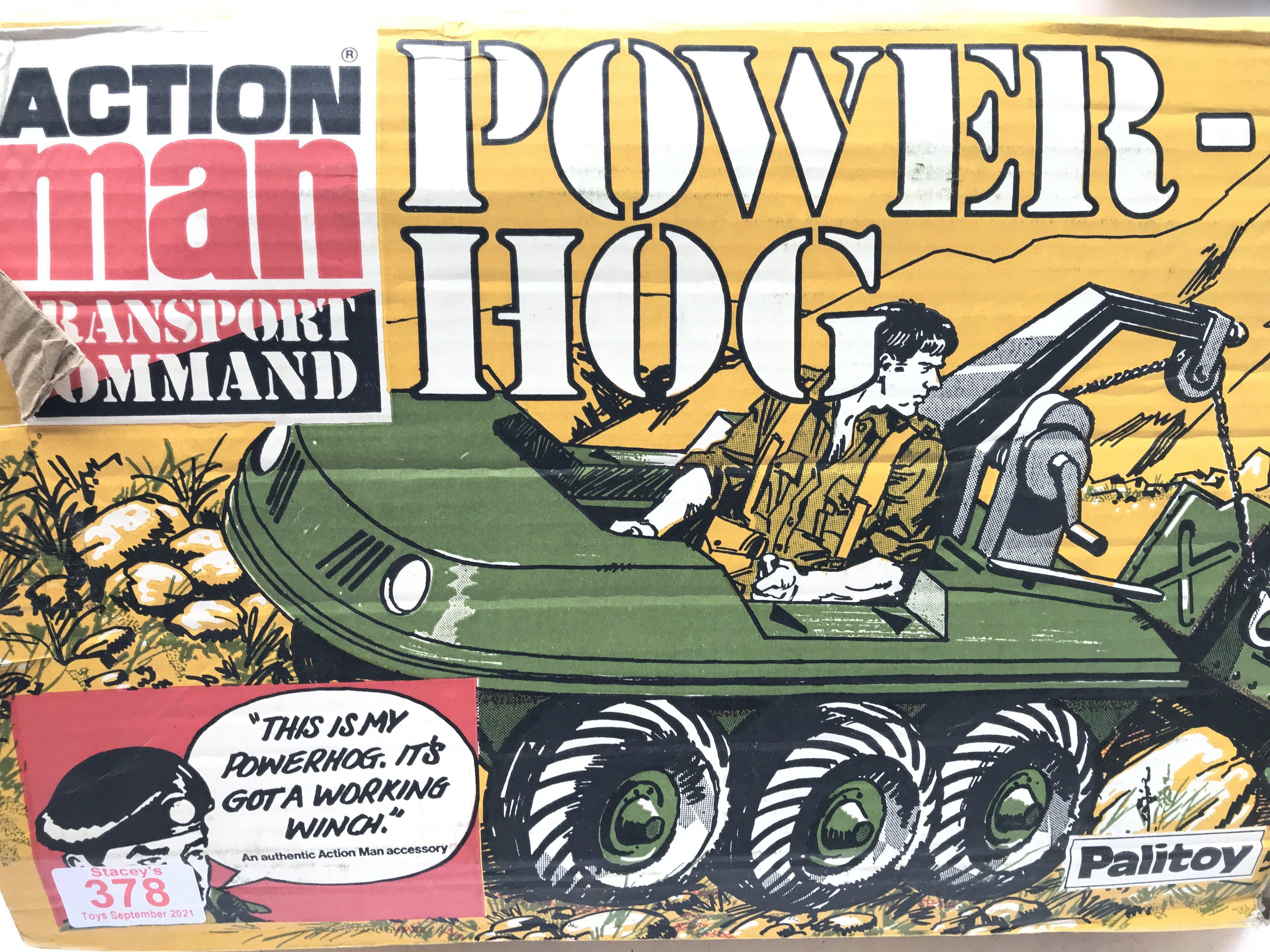 A Boxed Vintage Action Man Power Hog. (Parts Missi - Image 2 of 2