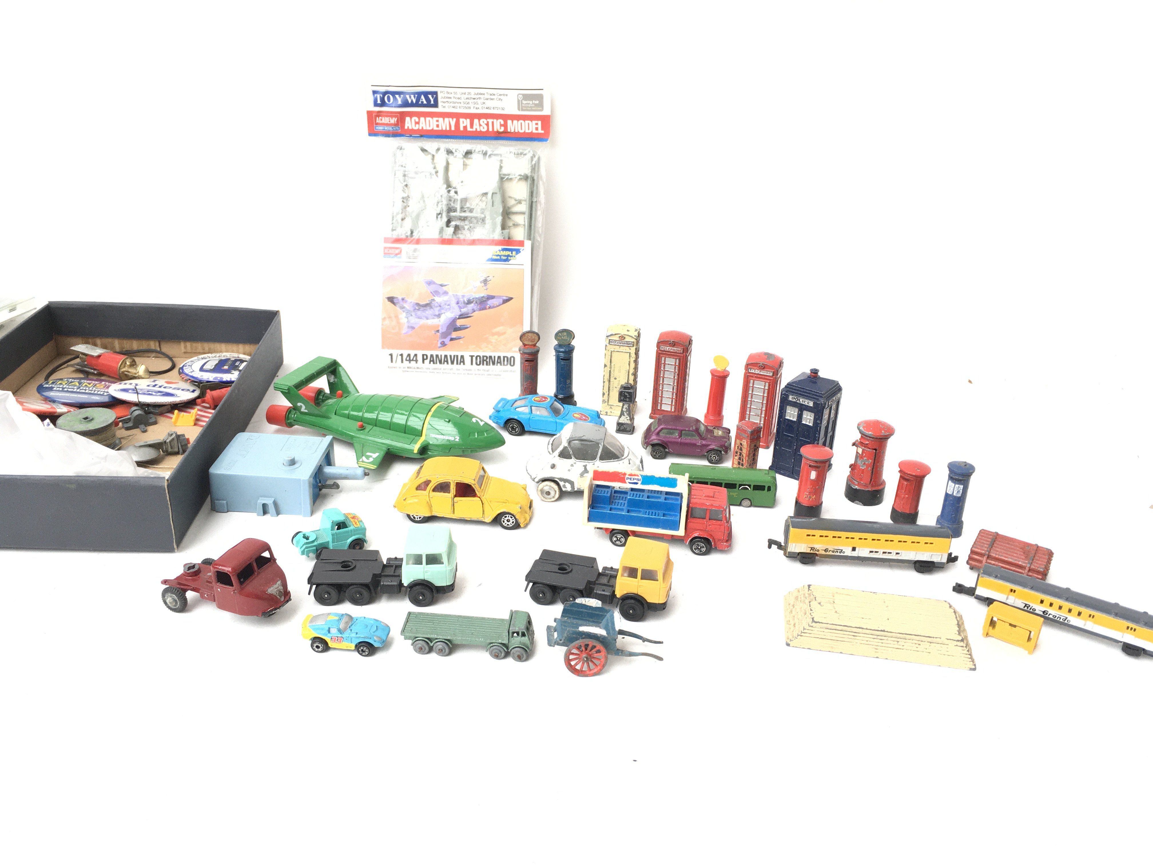 A Collection of Various Die-Cast and Plastic Vehic