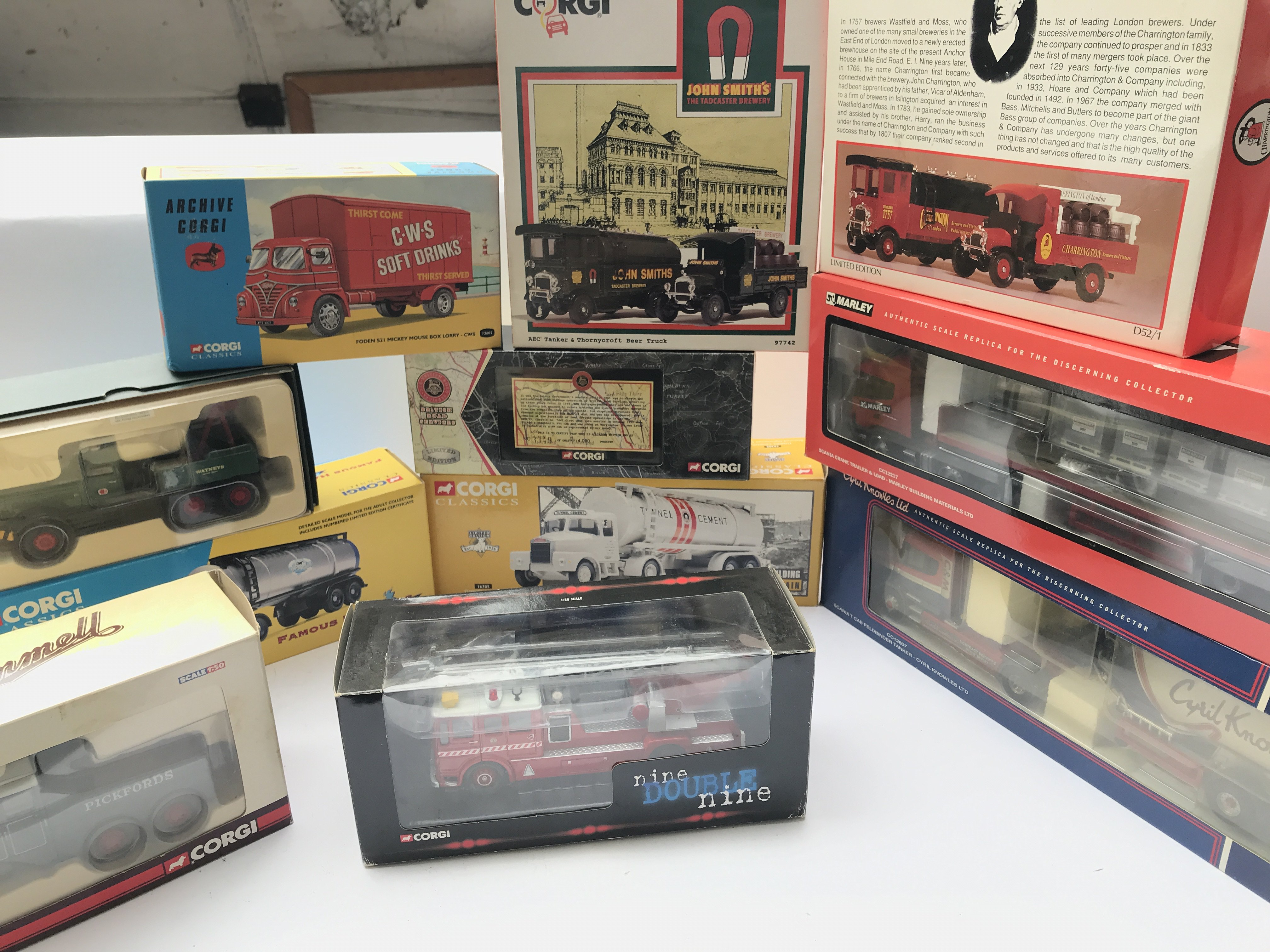 A Box Containing a Collection of Corgi Classics Lo