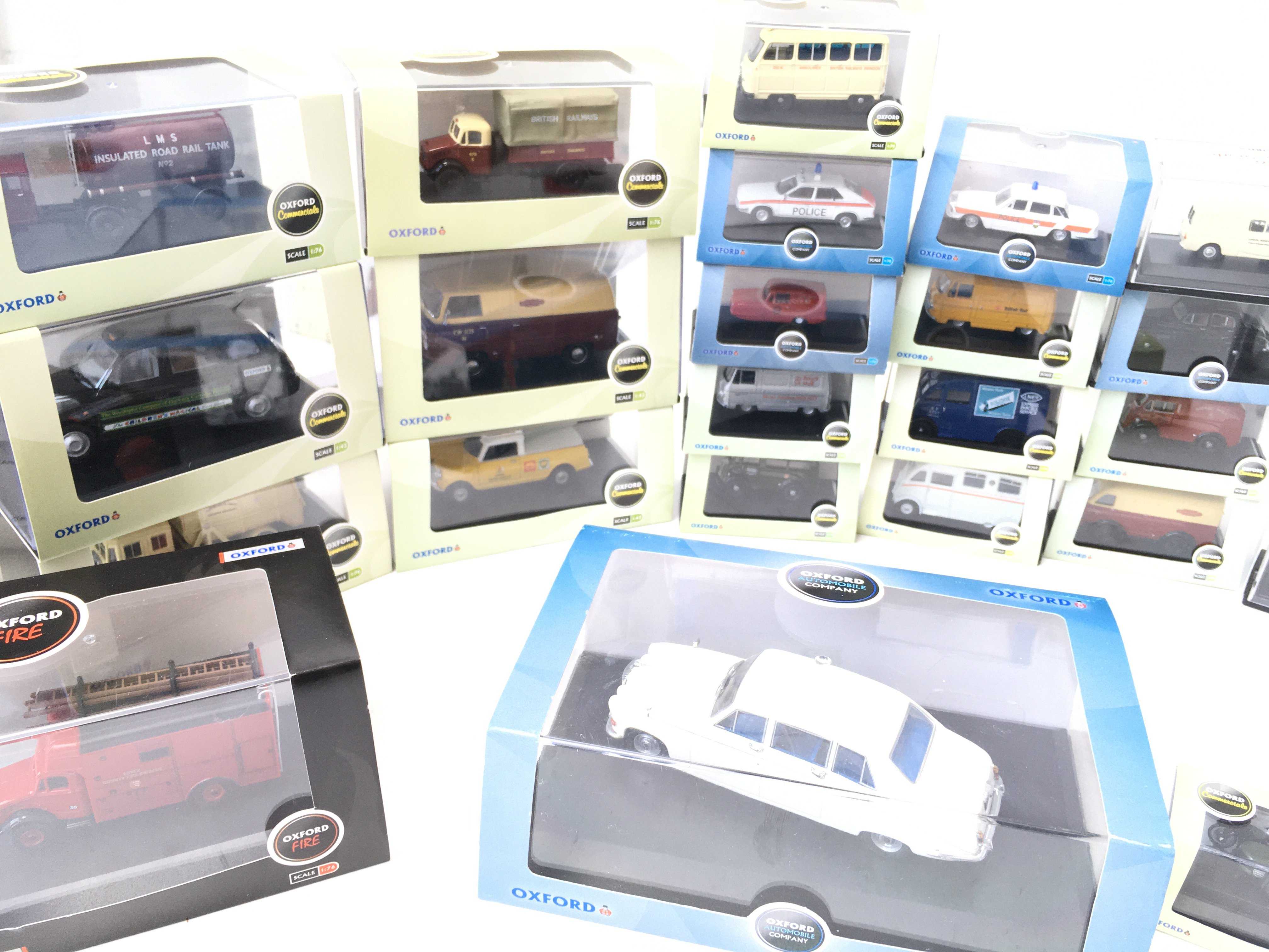 A Collection of Oxford Die-cast all boxed including Fire. haulage. automobile etc. - Image 2 of 4