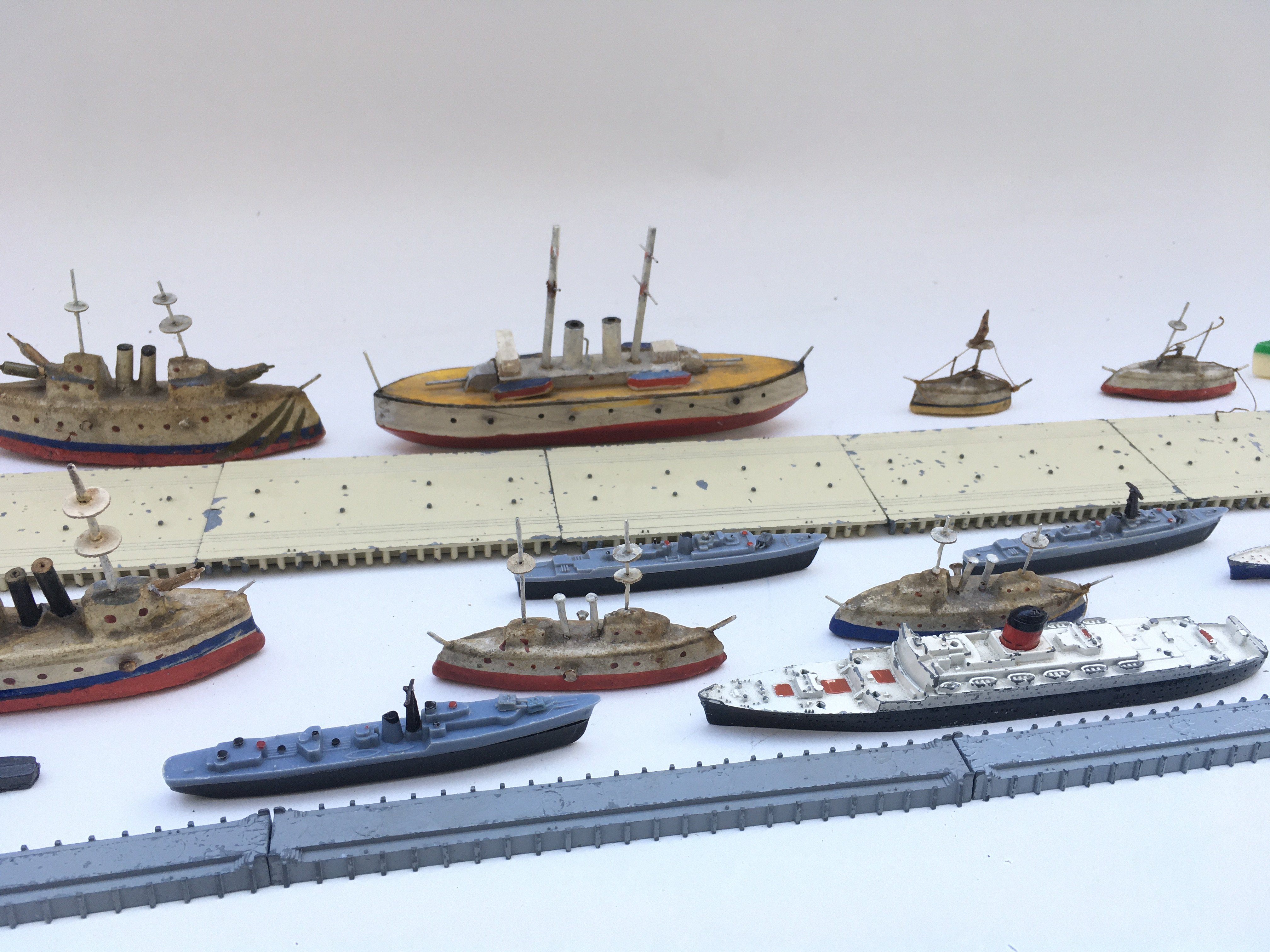 Large collection of playworn toys including lone star locco- Triang ships. - Image 4 of 4