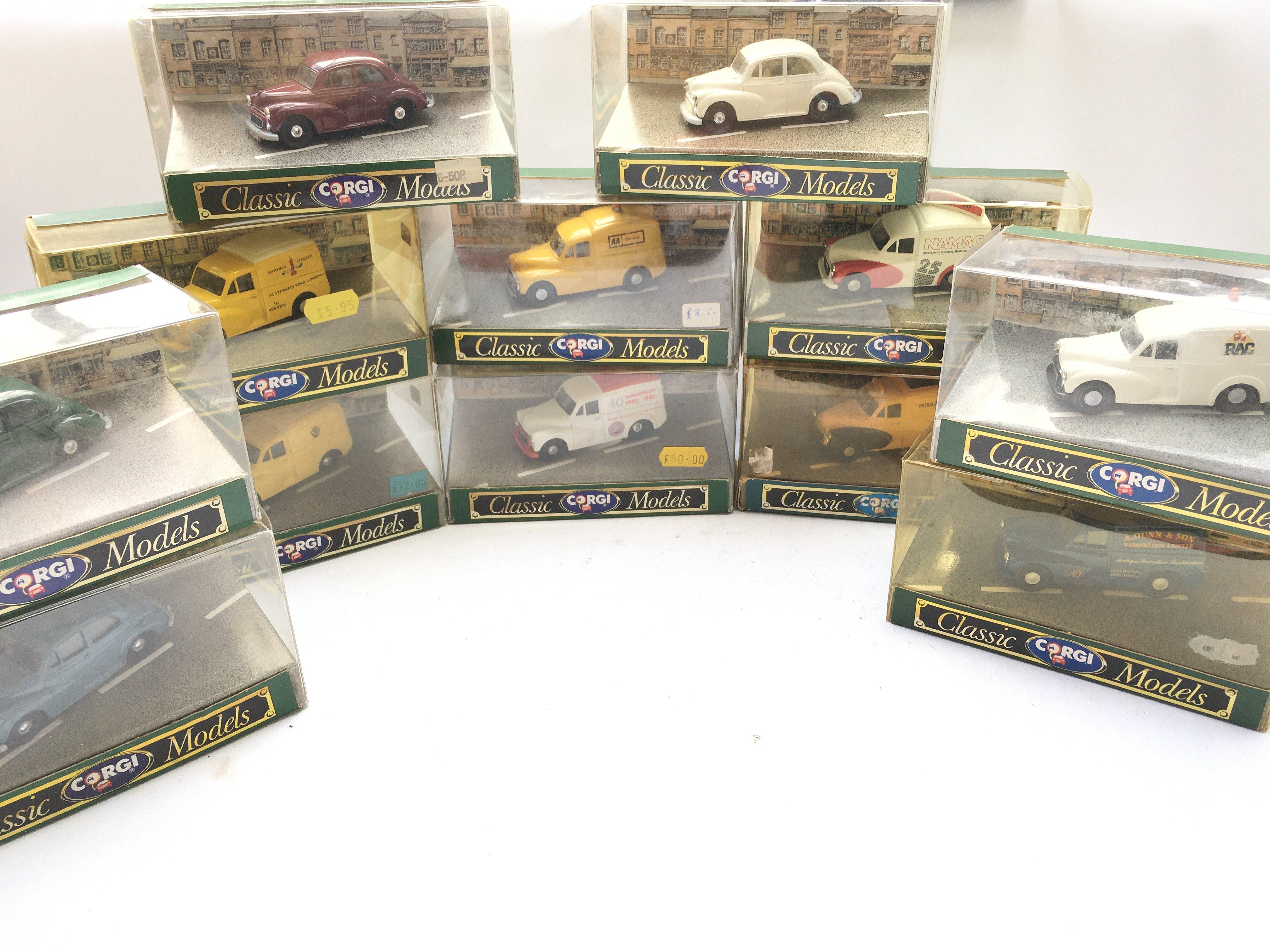 A Collection Of Corgi Models. All Morris Minors. B