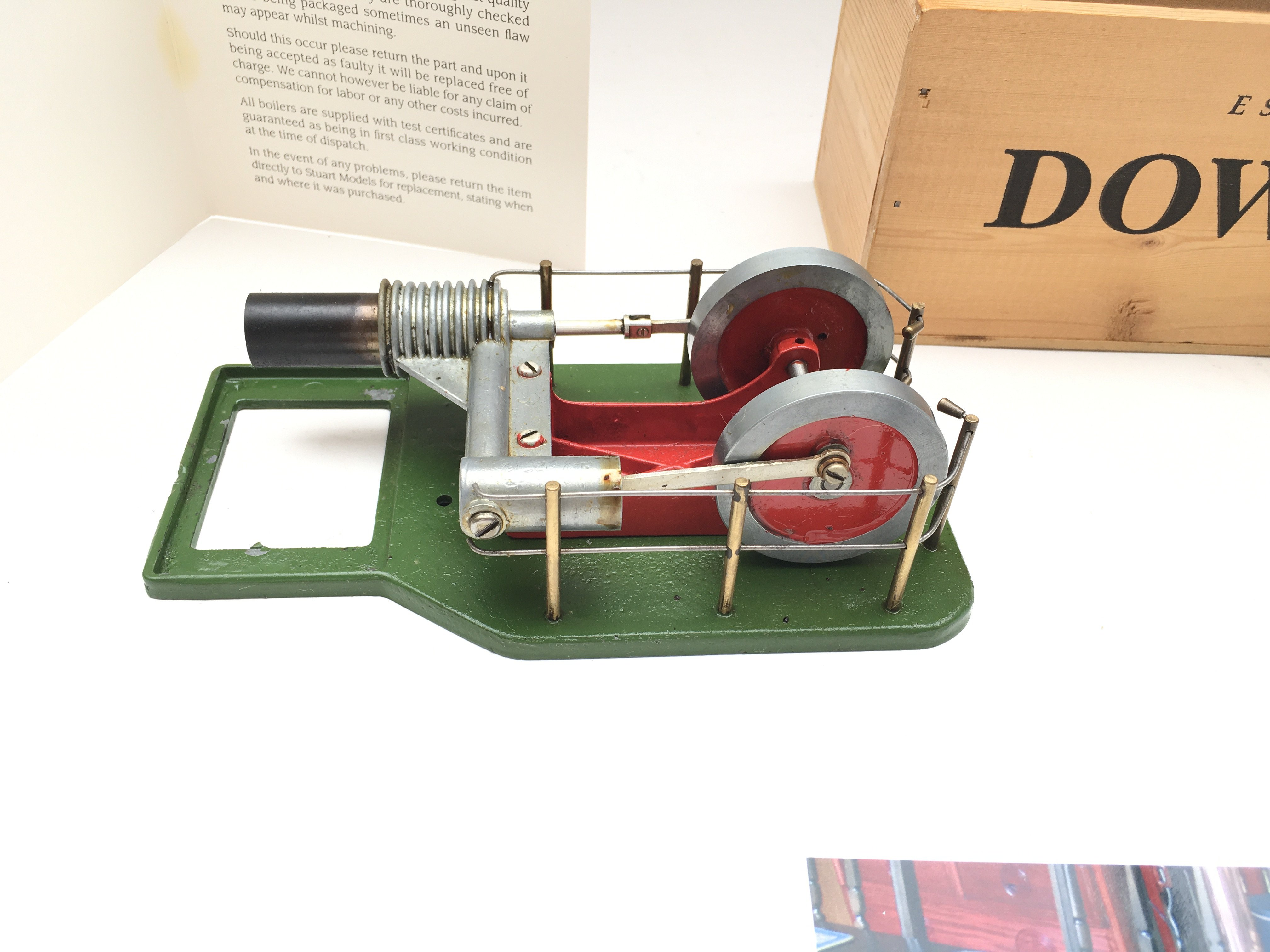 A Stuart Models Steam Engine including Feed Pump & Reservoir. Includes oils and certificate of - Image 5 of 5