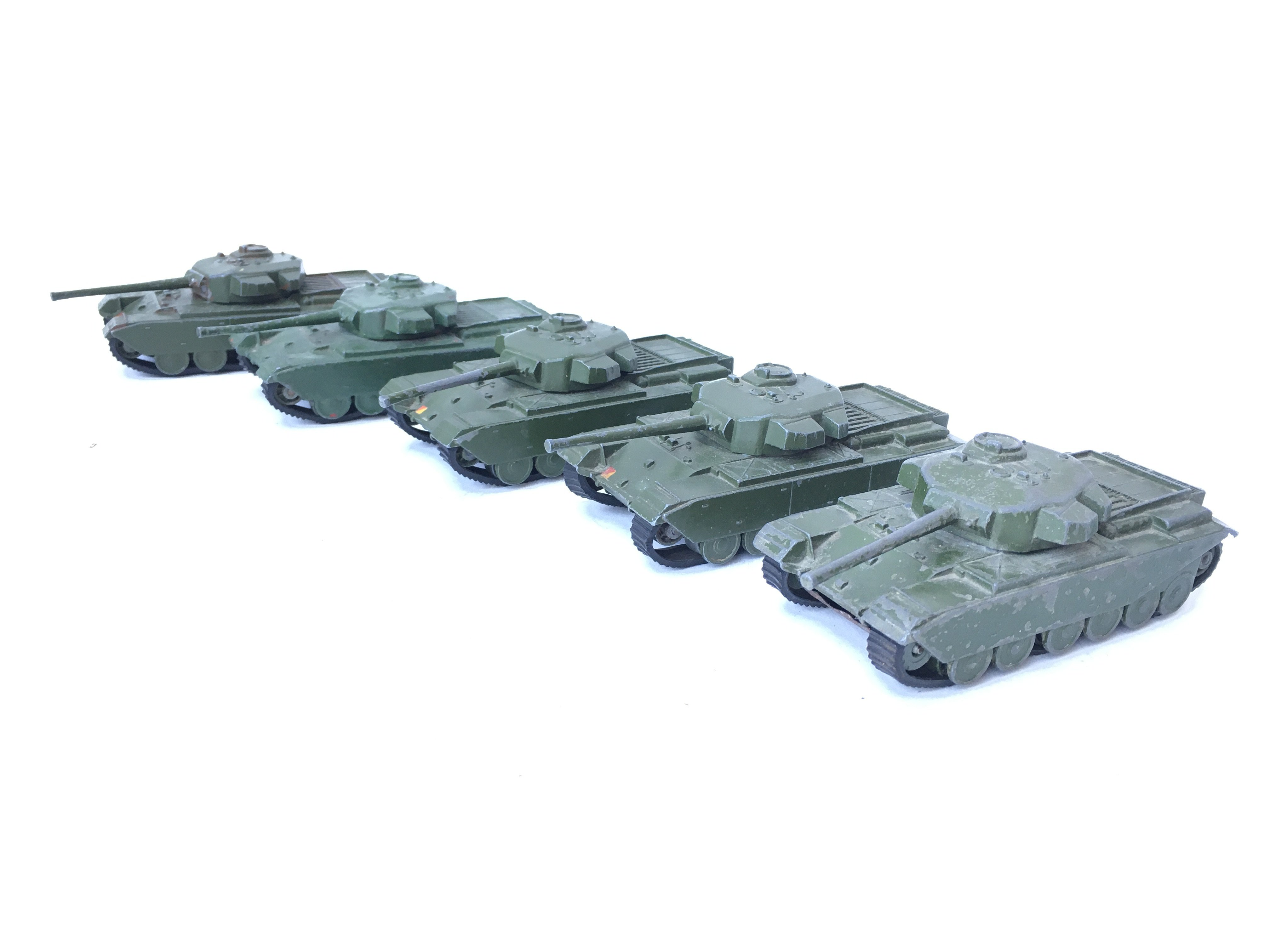 5 X Dinky Supertoys Centurion Tanks. #651.(1 re-pa