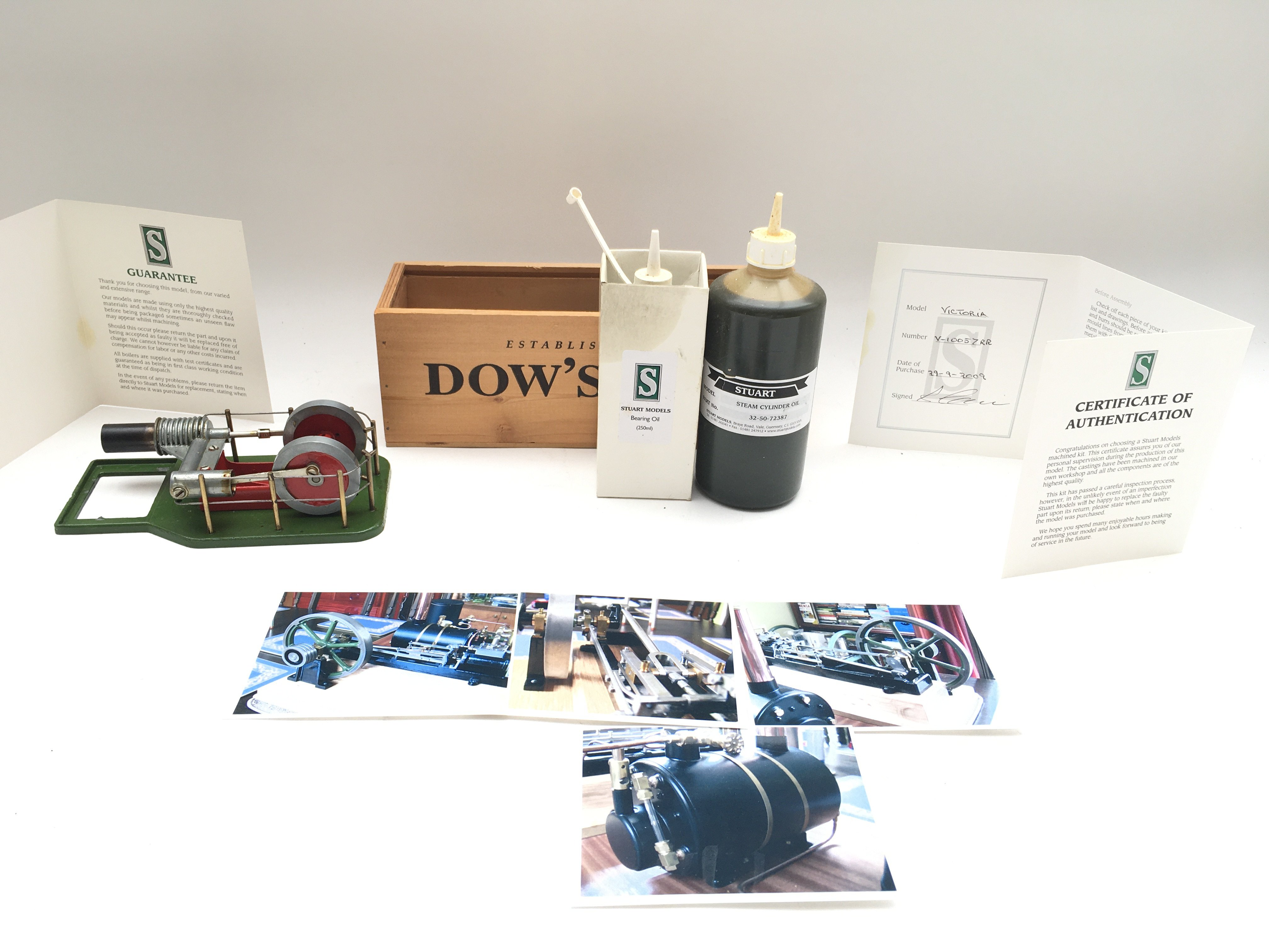A Stuart Models Steam Engine including Feed Pump & Reservoir. Includes oils and certificate of - Image 3 of 5