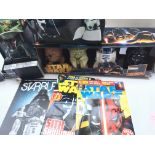 A Collection of Star Wars Merchandise in clouding