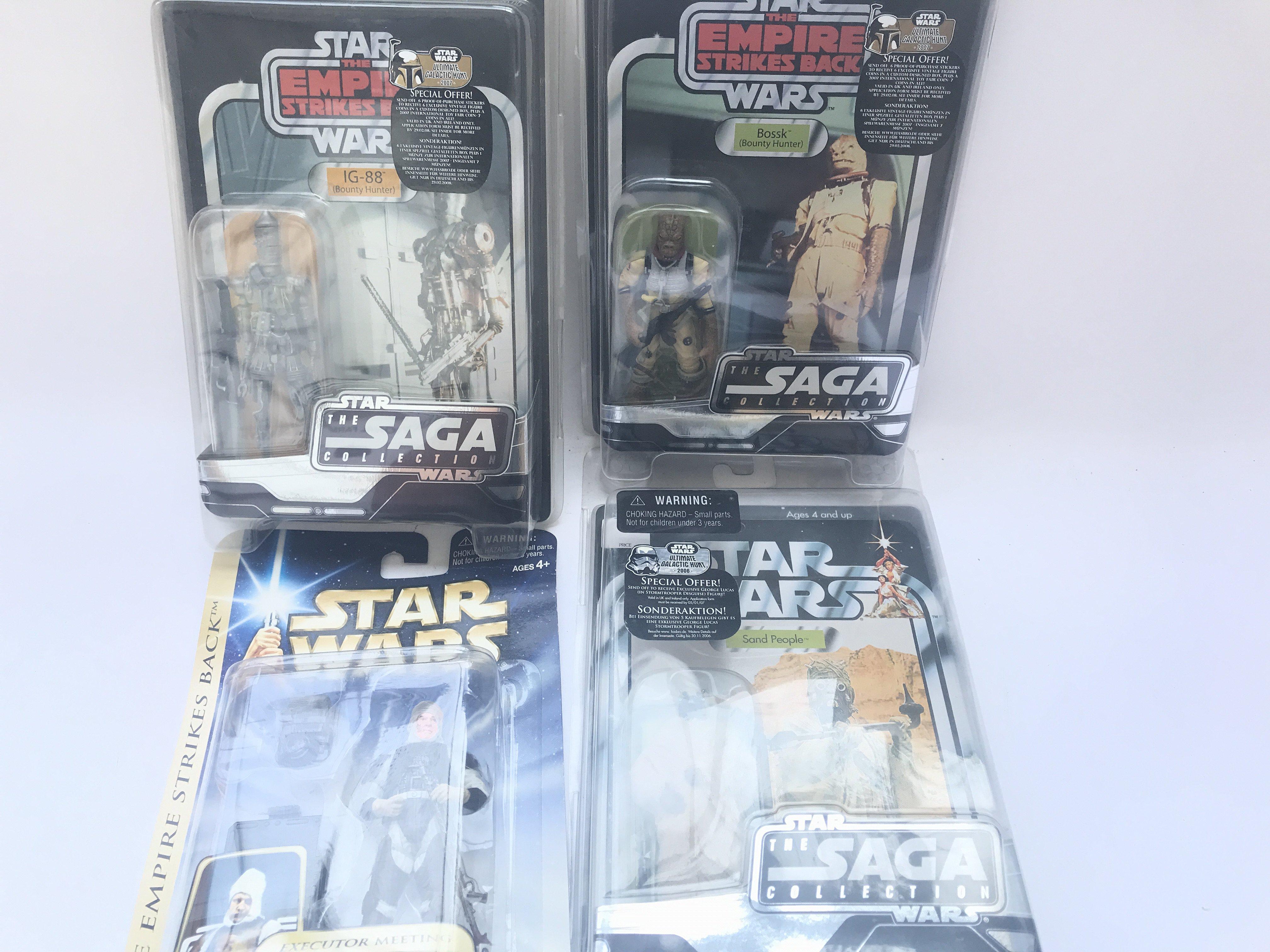 4 X Star Wars Carded Figures including 3 x Saga Co