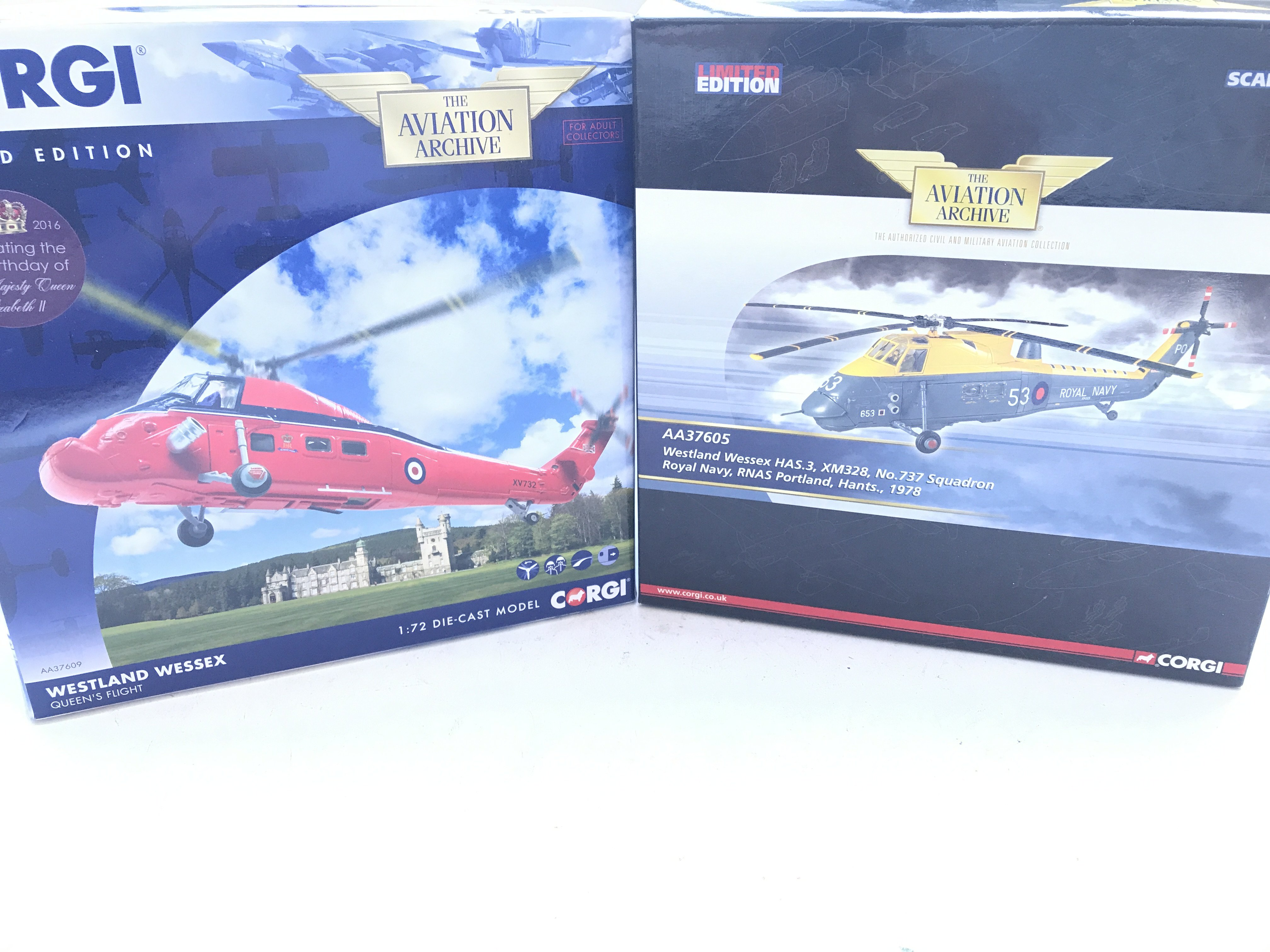 2 X Boxed Corgi Westland Wessex Helicopters Scale