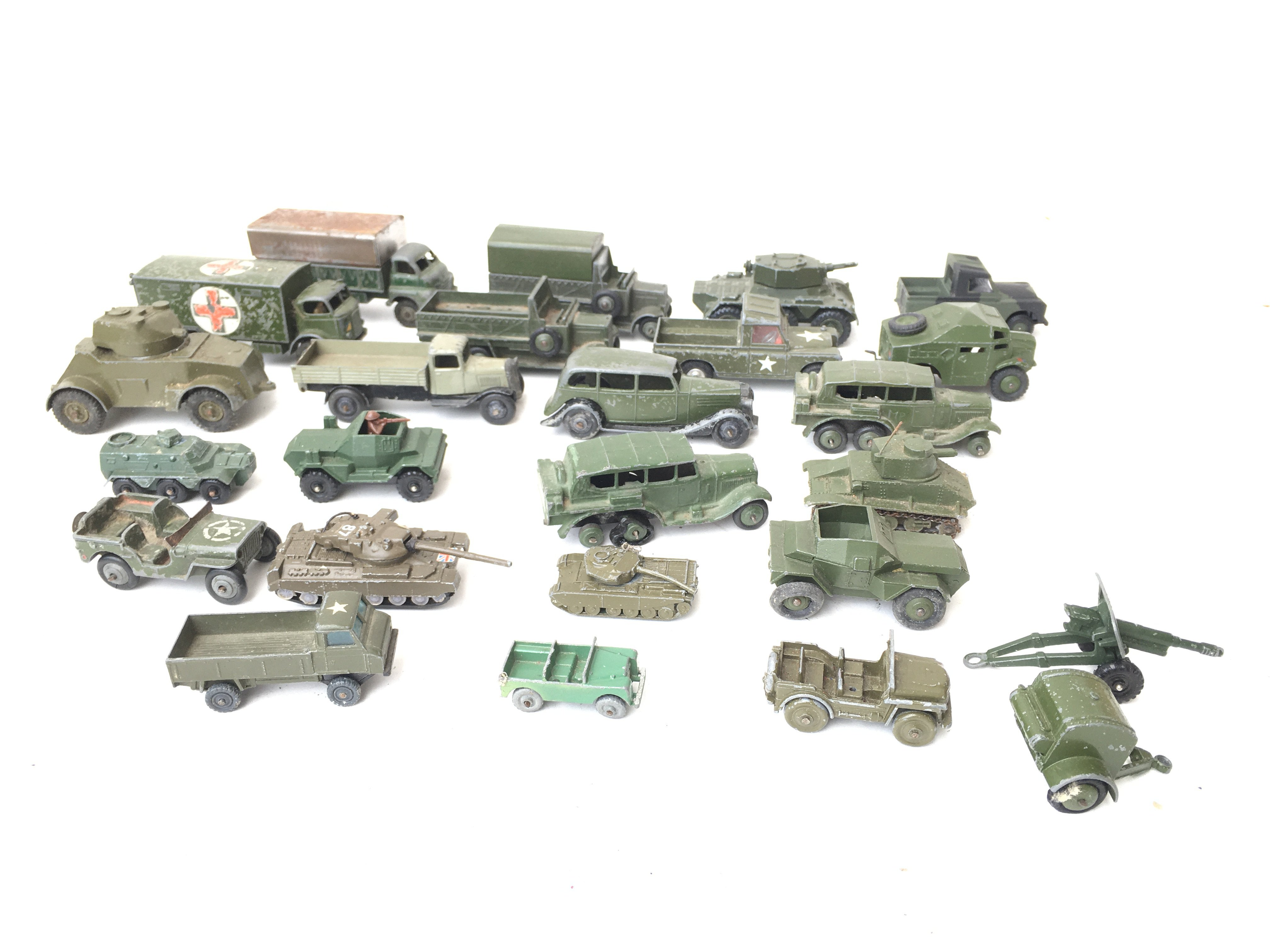A Collection of Military Vehicles including Husky.