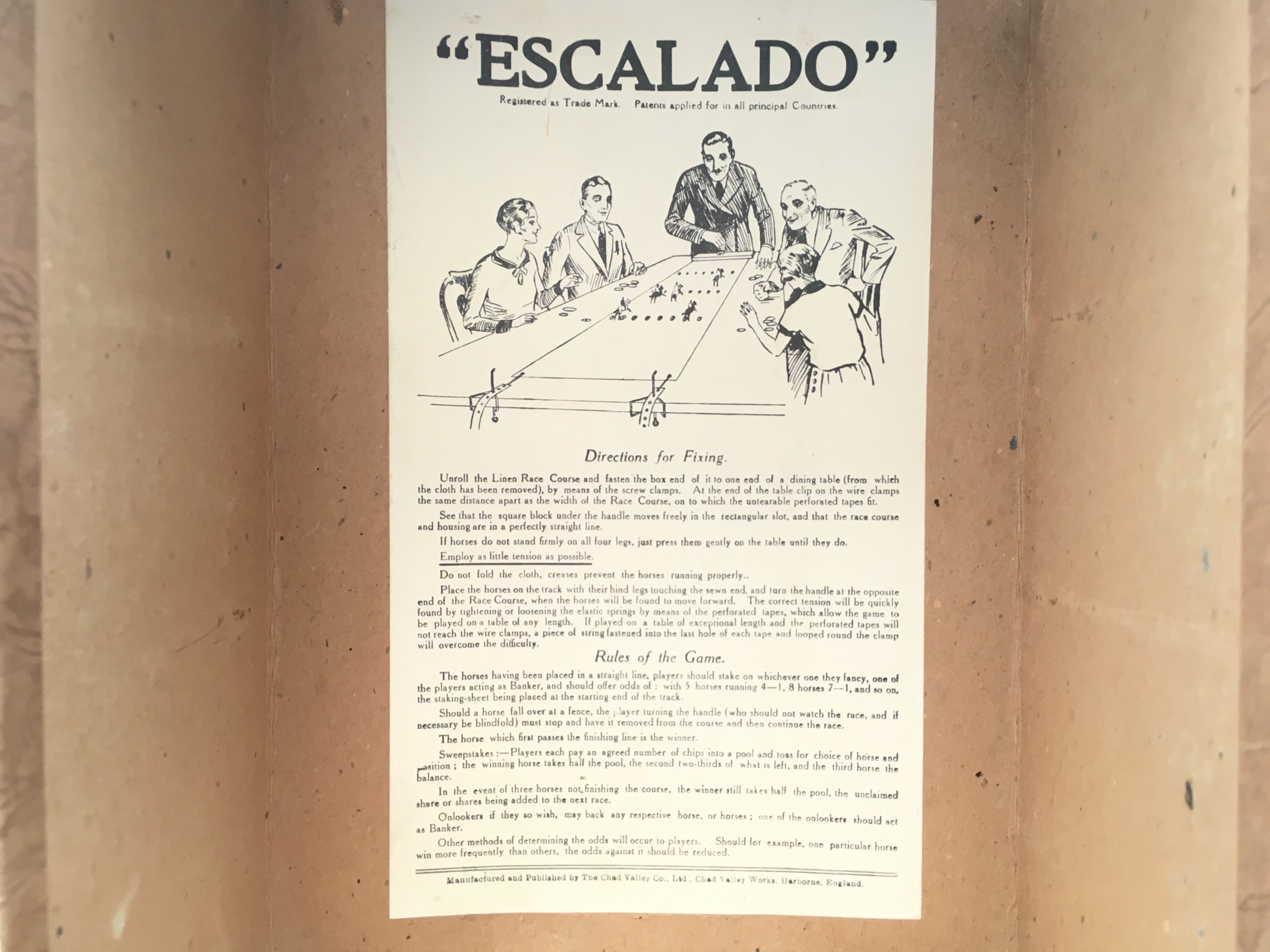 Antique Chad valley Escalado vintage horse racing game. 1930's image cover. - Image 4 of 4