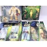 A Collection Of Modern Carded Star Wars Figures. I