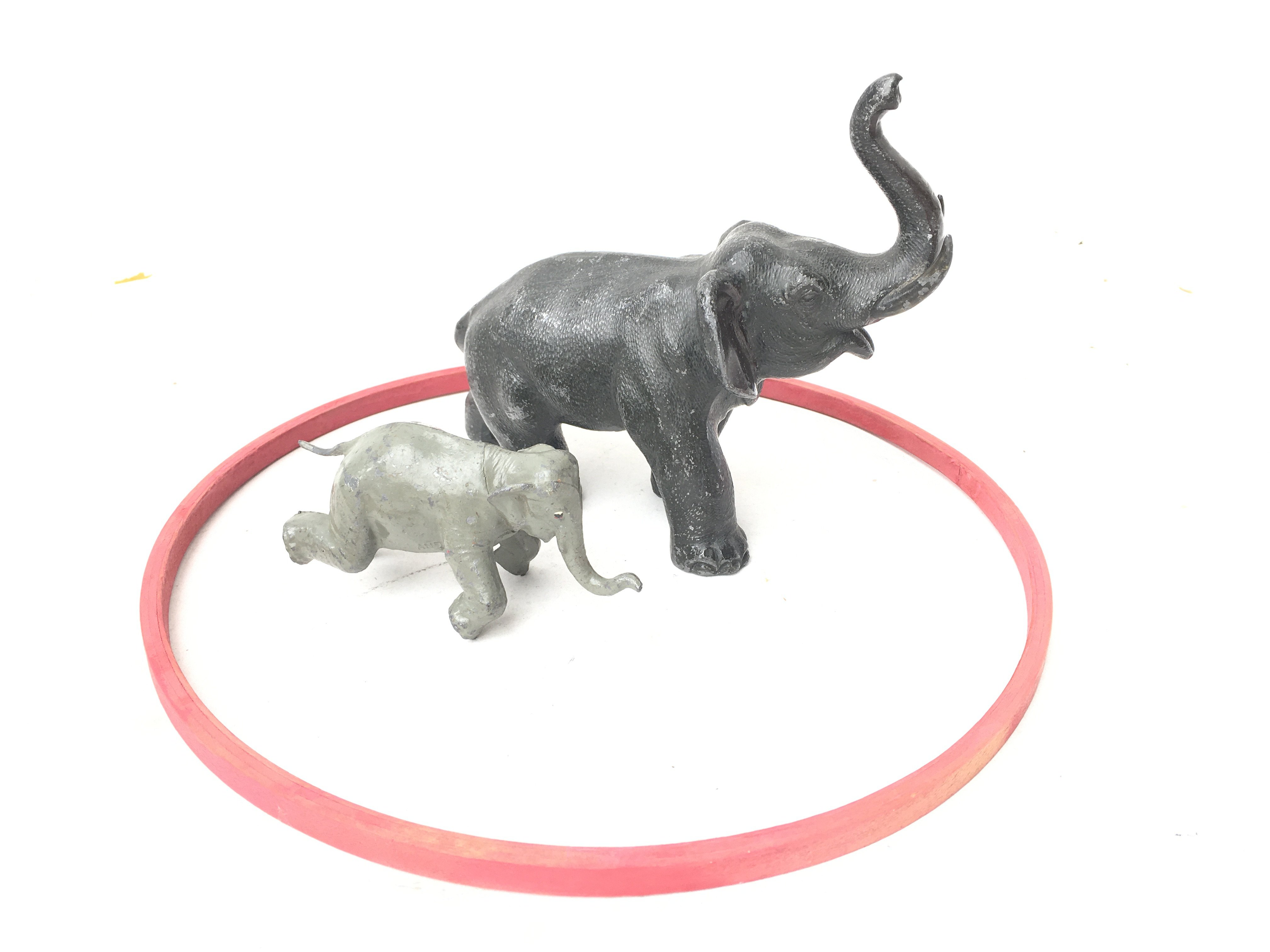 2 X Britain's Elephants And A Ring.