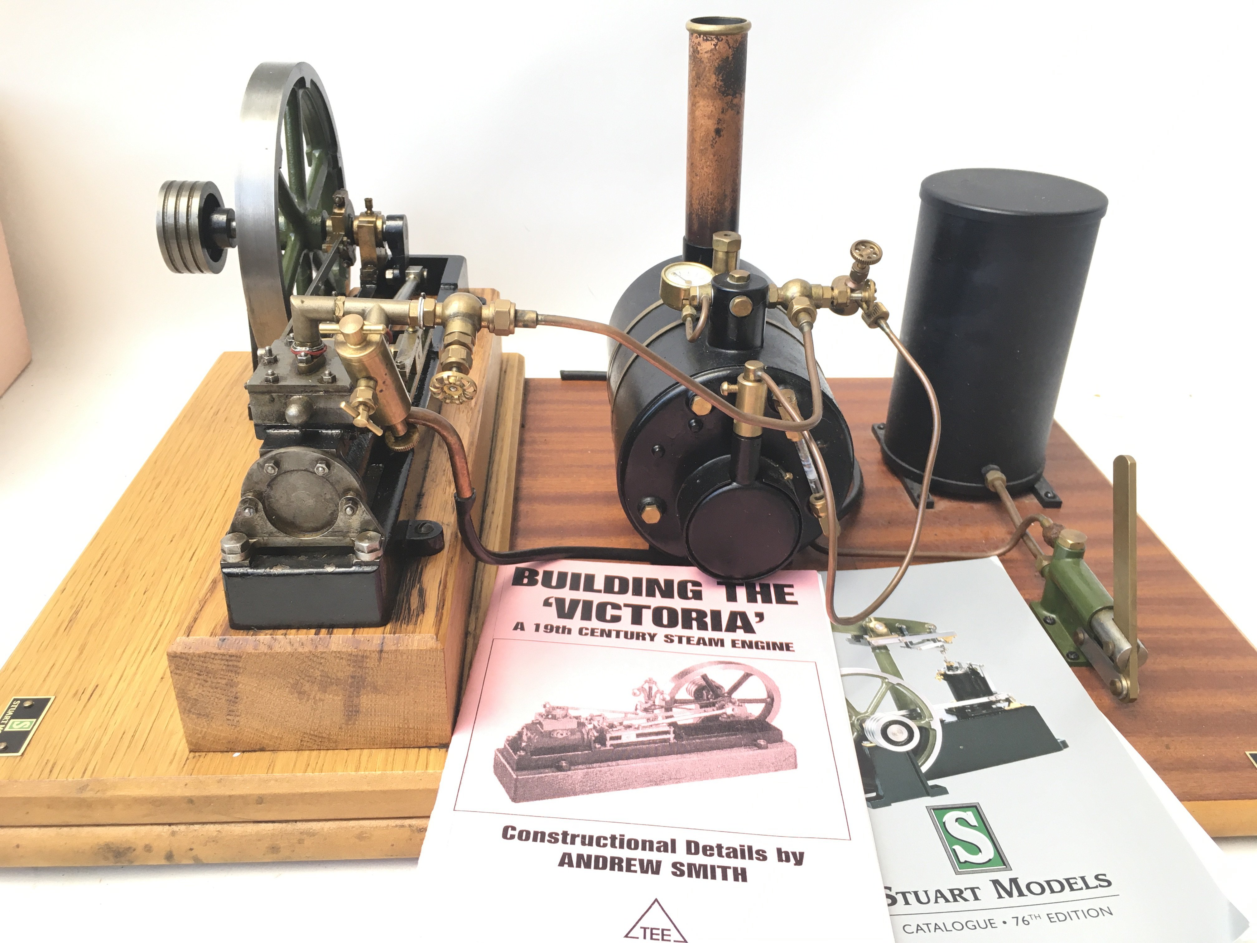 A Stuart Models Steam Engine including Feed Pump & Reservoir. Includes oils and certificate of - Image 2 of 5