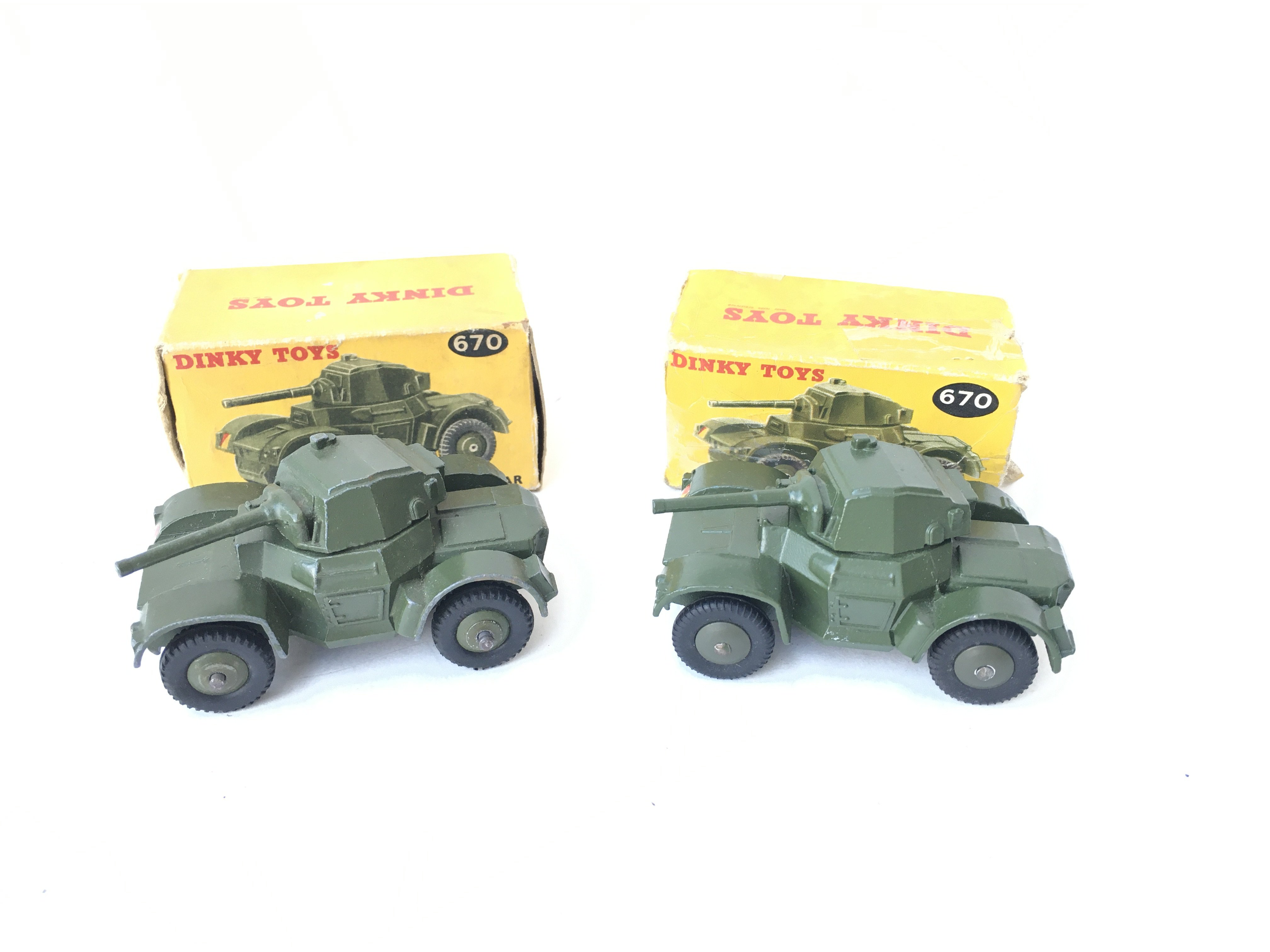 2 X Boxed Dinky Armoured Cars. #670