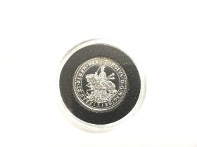 A gold and rhodium plate Charles I Oxford crown proof coin from the Millionaires collection with