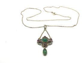 An antique Austro Hungarian silver gilt pendant se