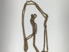A 9 ct gold link watch chain 46 grams.