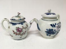 An 18th Century Royal Worcester tea pot decorated