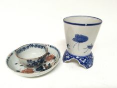 An 18th century Chinese export tea bowl dis and a