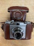A cased Zeiss Ikon prontor SVS camera