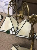 A Collection of Tiffany style wall lights comprisi
