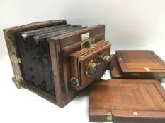 An unusual antique Thornton Pickard bellows camera