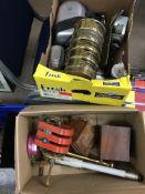 Various scientific instruments and camera equipment.