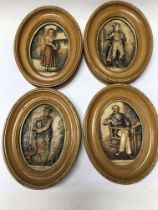 A collection of seven Charles Dickens plaques - NO RESERVE