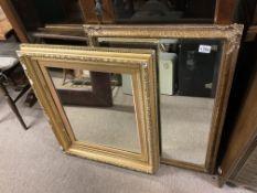 2 Gilt framed mirrors. (Slight damage). (2) - NO RESERVE