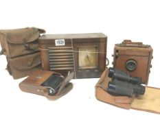 A Vintage Little Maestro walnut radio a 1899 Insta