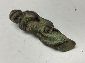 A small bronze monkey amulet - NO RESERVE
