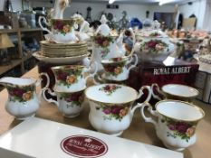 A collection of Royal Albert country rose includin