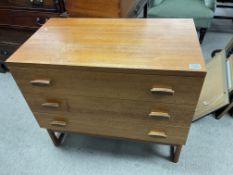 A modern design 3 drawer chest. 81cm x 46cm x 72cm