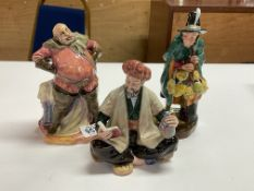3 Royal Doulton figures, Omar Khayam HN2247, Falstaff HN 2054, The Mask Seller HN2103 (no visible