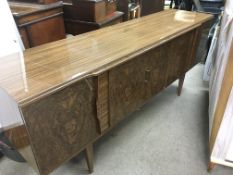 A modern design sideboard by Beautility with central drinks cupboard, approx 184cm x 48cm x 77cm -