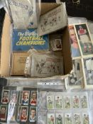 Pre 1960 Football Memorabilia: Quantity of cards from Godfrey Philips, John Player, Topical Times