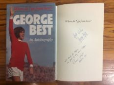 1980 George Best Signed Football Book: An Autobiography by Graeme Wright and George Best. Hardback