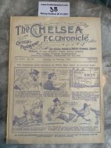 1929/30 Chelsea v West Brom Football Programme: Ex bound in excellent condition with no team
