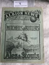 30/31 West Brom v Tottenham Football Programme: Very good condition league match dated 22 11 1930