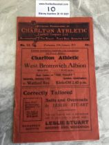 30/31 Charlton v West Brom FA Cup Replay Football Programme: Very good condition with writing to