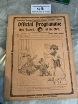 1921/22 Tottenham v West Brom Football Programme: Good condition 4 page league match with no team