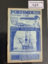 37/38 Portsmouth v West Brom Football Programme: Good condition with no team changes. Tearing to
