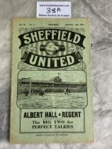 31/32 Sheffield United v West Brom Football Programme: Very good condition with no team changes.