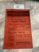 30/31 Charlton v West Brom FA Cup Football Programme: Good condition with no team changes. Rusty