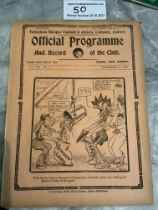 1928/29 Tottenham v West Brom Football Programme: Good condition 4 page league match with no team