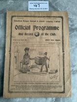 1914/1915 Tottenham v West Brom Football Programme: Good condition 8 page league match with no