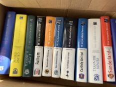 Breedon Football Book Collection: 11 large hard back history books in excellent condition.