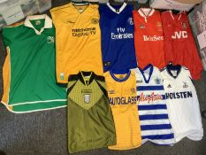 Replica Football Shirts: Good quality mens sizes to include QPR, Tottenham, Bergkamp Arsenal, Harlow