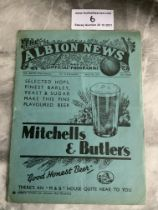 36/37 West Brom v Arsenal FA Cup Football Programme: Very good condition dated 22 11 1930 with no