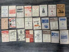 Superb Scottish Football Programme Collection: 47/48 Queens Park v Albion, Aberdeen v Queens Park,